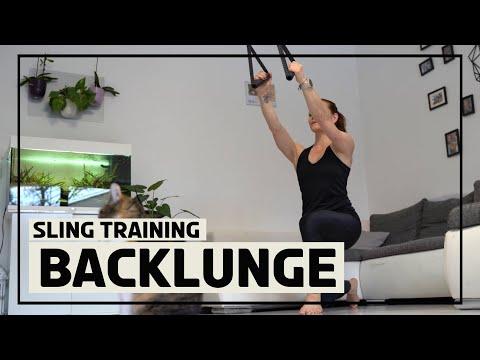 Backlunges mit dem Sling Trainer 1